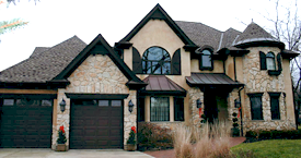 New EIFS Installation with Stucco & Cultured Stone