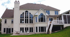 Residential EIFS Repair + Wood Deck Construction
